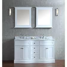 ariel bath scmon60swh montauk 60 double sink bathroom vanity set