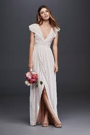 non white wedding dresses casual simple wedding ideas david s bridal