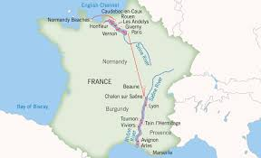Europe Map With Rivers by Grand France Paris To Avignon