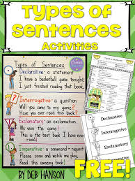 20 best 3rd grade grammar images on pinterest sentence types 4