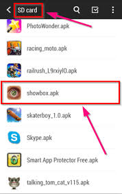 showbox apk file showbox app install show box for android