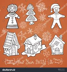 new year stuff christmas stuff set winter holidays new stock vector 153809927