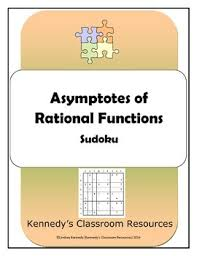 asymptotes of rational functions sudoku puzzle tpt