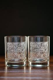 buy boots glasses town alumni etched map whiskey glasses glassware bourbon