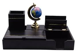Desk Pen Stand Table Decor Pen Holder Globe Stand Desk Organizer Stationery