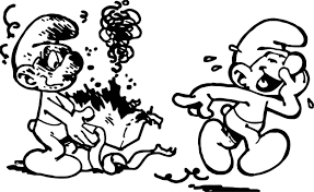 jokey smurf box gift coloring wecoloringpage