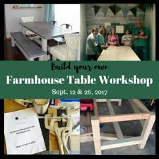 build your own table sawdust savvy build your own farmhouse table workshop presented by