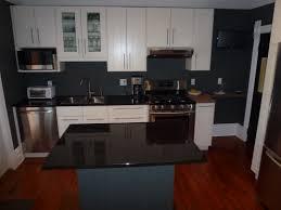 modern interior design of the ikea custom kitchen with cream