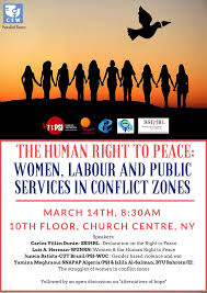 the human right to peace women labour and public services in