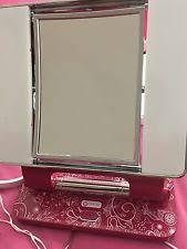 ott lite natural daylight makeup mirror pink white chrome 26 watt