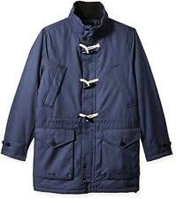 nautica men u0027s weather resistant hooded toggle coat large indigo