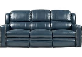 blue reclining sofa and loveseat market avenue blue leather power reclining sofa 1 266 00 86w x
