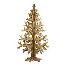 cardboard christmas tree wooden alternatives to green up your christmas tree
