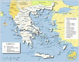 Map Of Mediterranean Countries Administrative Map Of Greece Nations Online Project