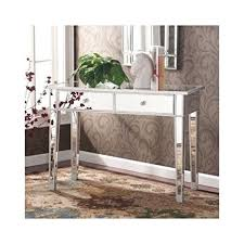 Mirrored Glass Vanity Amazon Com Mirrored Entry Table Modern For Entrance Foyer