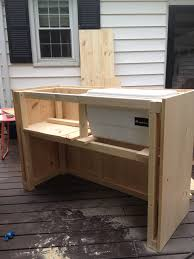 diy steps for outdoor bar with built in cooler bar ideas