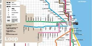 cta line map chicago map maps chicago united states of america