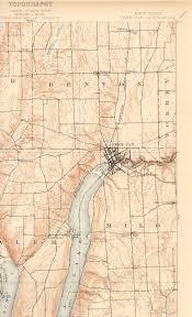 Canandaigua New York Map by Penn Yan Ny Quadrangle