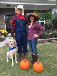farmer and scarecrow costume for halloween halloween