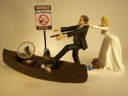 fishing wedding cake toppers no fishing come back wedding cake topper w boat
