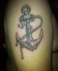mind blowing anchor and symbol tattoo tattooshunter com