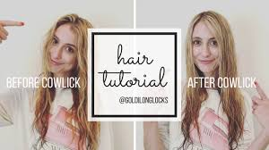 women haircuts with cowlick tutorial how to get rid of your stubborn front cowlick with a