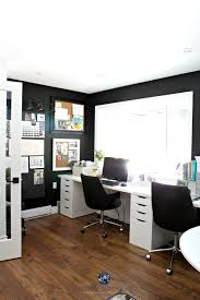 Virtual Decorating by Home Office With Sherwin Williams Tricorn Black Alex Desk And