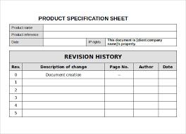 Sheet Template Word Spec Sheet Sle 10 Documents In Pdf Word