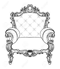 classic imperial baroque armchair with luxurious ornaments vector