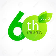 celebrating 60 years birthday 60 years celebrating green leaves logo anniversary year