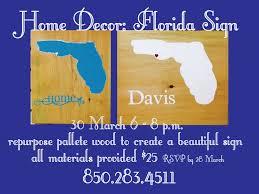 home décor florida sign