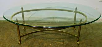 Glass Oval Coffee Table Furniture Oval Coffee Table With Glass Top And High Legs For