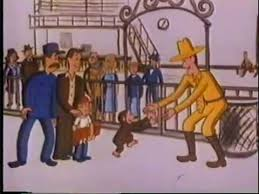 curious george visits railroad station