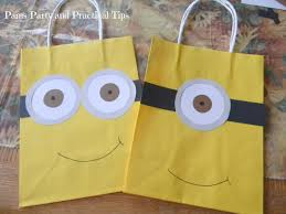 minion halloween basket pams party u0026 practical tips despicable me party bags
