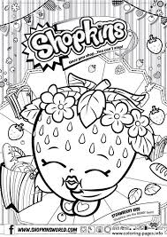 shopkins strawberry kiss coloring pages printable