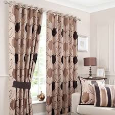 Chocolate Curtains Eyelet Lalique Chocolate Lined Eyelet Curtains Dunelm Home Decor