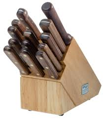 Kitchen Knive Cutlery Walnut Tradition 14 Piece Kitchen Knife Set
