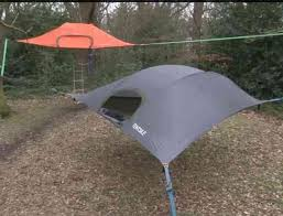 camping in a state of suspension a suspended tent that is