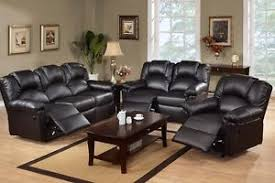 reclining sofa and loveseat set black motion sofa set 3 pc leather sofa loveseat recliner furniture