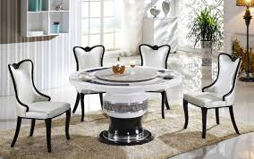 round marble dining table with lazy susan on modern home round marble dining table with lazy susan on modern home decoration 4 0002950 kok usa t