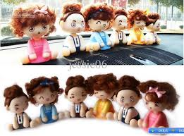 mocmoc doll auto car dashboard shaking swing decoration