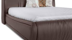 soho leather contemporary platform bed brown zuri furniture