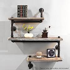 How To Make A Pipe Bookshelf Amazon Com Industrial Pipe Shelving Bookshelf Rustic Modern Wood