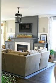 amazing hanging tv over brick fireplace room design decor