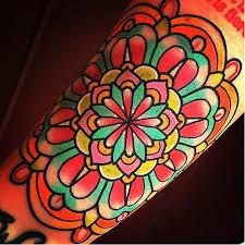 15 super bright and colorful flower mandala tattoos tattoodo