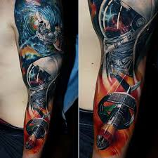 badass tattoos calf sleeve pictures to pin on tattooskid