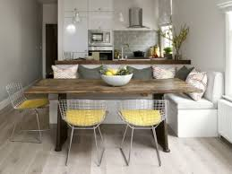 cuisine et salle a manger salle à manger cuisine salle manger banc angle table bois chaises
