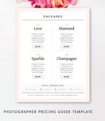 wedding photography pricing wedding photography package pricing list template photography