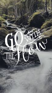 go with the flow printable poster design