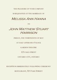 wedding ceremony cards best of invitation letter wedding bitfax co